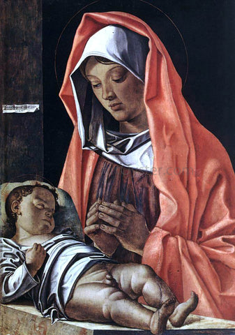 Francesco Bonsignori Virgin with Child - Hand Painted Oil Painting