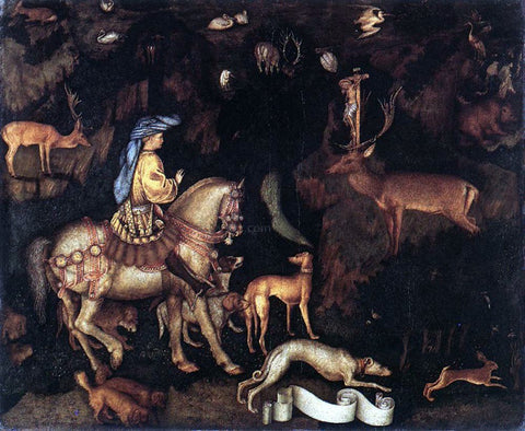 Antonio Pisanello Vision of St Eustace - Hand Painted Oil Painting
