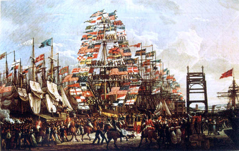 Robert Salmon Visit of the Prince of Wales to Liverpool, 18 September, 1806 - Hand Painted Oil Painting
