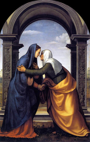 Mariotto Albertinelli Visitation - Hand Painted Oil Painting