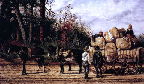 William Aiken Walker Wagon Scene - Hand Painted Oil Painting