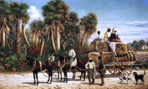 William Aiken Walker Wagonload of Cotton - Hand Painted Oil Painting