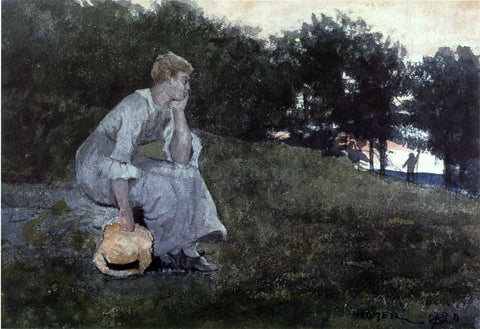 Winslow Homer Waiting - Hand Painted Oil Painting