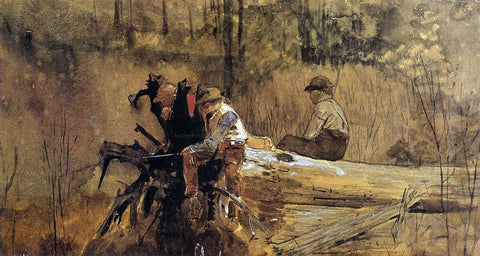 Winslow Homer Waiting for a Bite (also known as Why Don't the Suckers Bite?) - Hand Painted Oil Painting