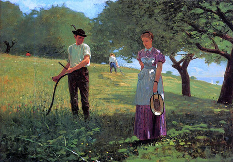 Winslow Homer Waiting for an Answer - Hand Painted Oil Painting