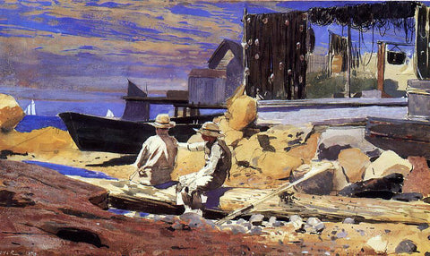 Winslow Homer Waiting for the Boats - Hand Painted Oil Painting