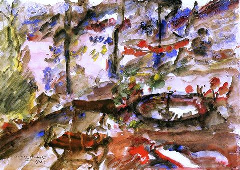 Lovis Corinth Walchensee Landscape - Hand Painted Oil Painting