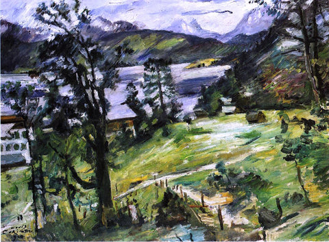 Lovis Corinth Walchensee Landscape with a Larch - Hand Painted Oil Painting