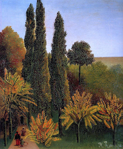 Henri Rousseau Walking in the Parc des Buttes-Chaumont - Hand Painted Oil Painting