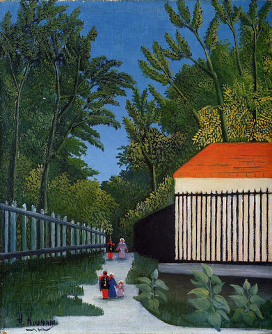 Henri Rousseau Walking in the Parc Montsouris - Hand Painted Oil Painting