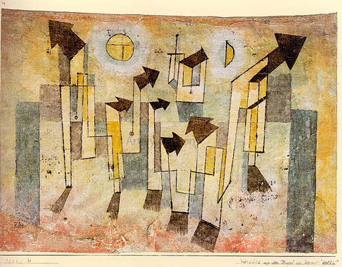 Paul Klee Wall Painting from the Temple of Longing - Hand Painted Oil Painting