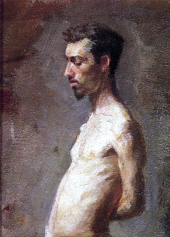 Thomas Eakins Wallace Posing - Hand Painted Oil Painting