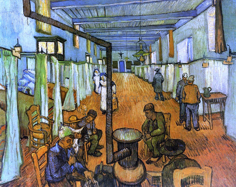 Vincent Van Gogh Ward in the Hospital at Arles - Hand Painted Oil Painting