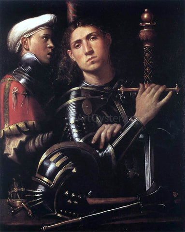Paolo Moranda Cavazzola Warrior with Equerry - Hand Painted Oil Painting