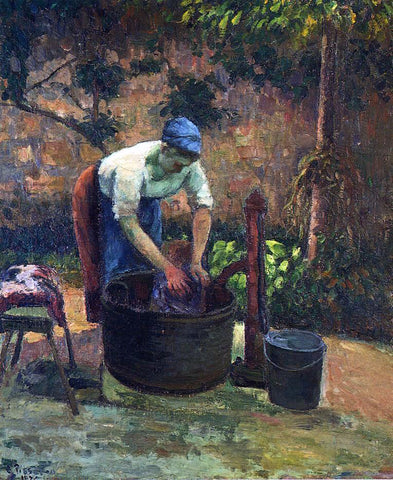 Camille Pissarro Washerwoman - Hand Painted Oil Painting