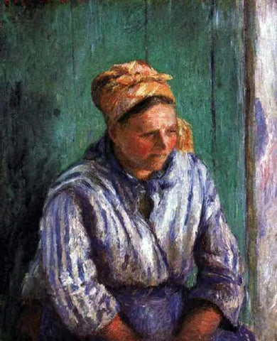 Camille Pissarro Washerwoman Study (also known as La Mere Larcheveque) - Hand Painted Oil Painting
