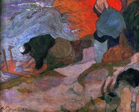 Paul Gauguin Washerwomen - Hand Painted Oil Painting