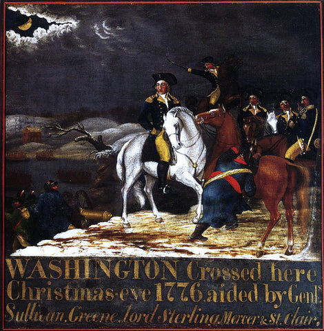 Edward Hicks Washington at the Deleware - Hand Painted Oil Painting