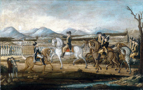 Frederick Kemmelmeyer Washington Reviewing the Western Army at Fort Cumberland, Maryland - Hand Painted Oil Painting