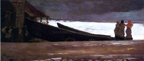 Winslow Homer Watching a Storm on the English Coast - Hand Painted Oil Painting