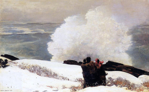 Winslow Homer Watching the Breaker - A High Sea - Hand Painted Oil Painting