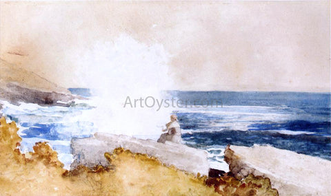 Winslow Homer Watching the Surf - Hand Painted Oil Painting