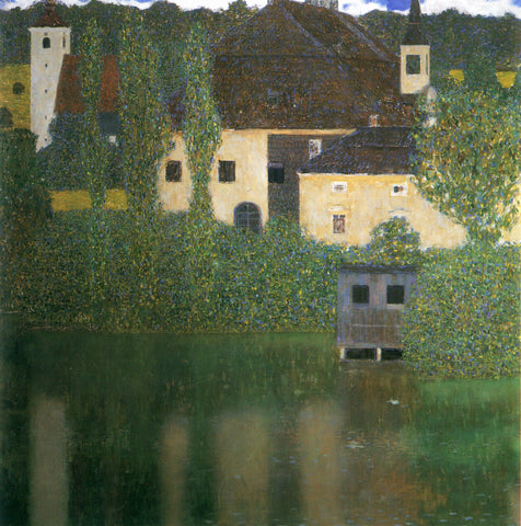 Gustav Klimt Water Castle - Hand Painted Oil Painting