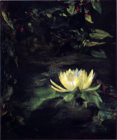 John La Farge Water Lily (also known as Lotus Leaves) - Hand Painted Oil Painting