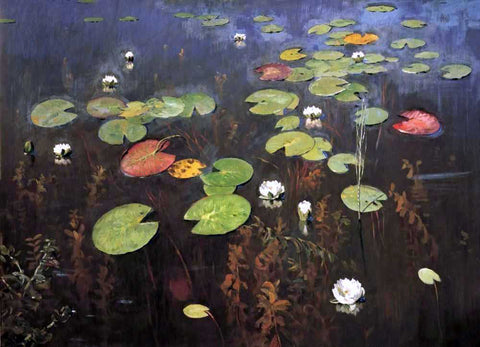 Isaac Ilich Levitan Water Lily, Nenuphar - Hand Painted Oil Painting