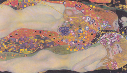 Gustav Klimt Watersnakes II - Hand Painted Oil Painting