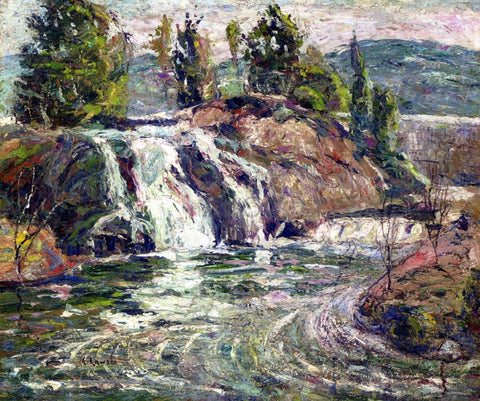 Ernest Lawson A Waterfall - Hand Painted Oil Painting