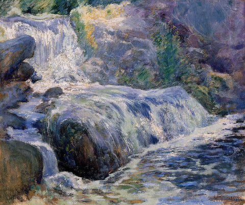 John Twachtman Waterfall, Blue Brook - Hand Painted Oil Painting