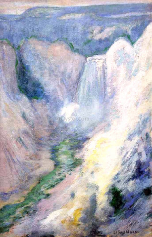 John Twachtman Waterfall in Yellowstone - Hand Painted Oil Painting