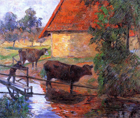Paul Gauguin Watering Place - Hand Painted Oil Painting