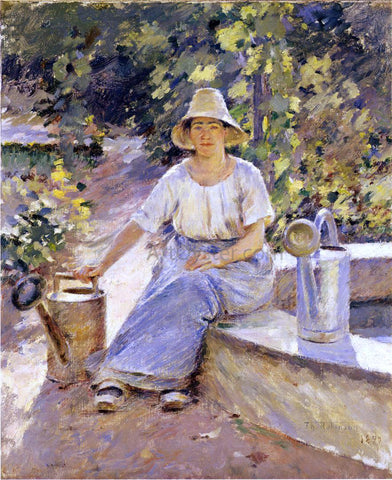 Theodore Robinson Watering Pots - Hand Painted Oil Painting