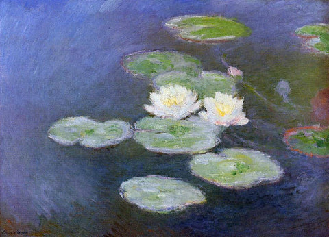 Claude Oscar Monet Water-Lilies, Evening Effect - Hand Painted Oil Painting
