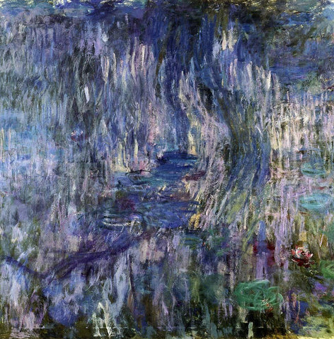 Claude Oscar Monet Water-Lilies, Reflection of a Weeping Willow - Hand Painted Oil Painting