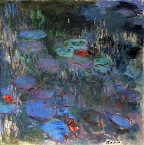 Claude Oscar Monet Water-Lilies, Reflections of Weeping Willows (right half) - Hand Painted Oil Painting