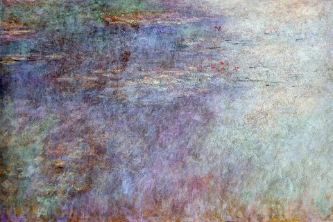 Claude Oscar Monet Water-Lillies Pond (left half) - Hand Painted Oil Painting