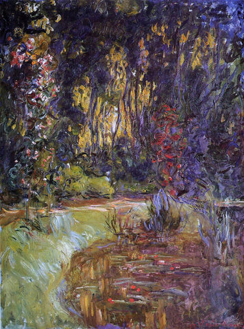 Claude Oscar Monet Water-Lily Pond at Giverny - Hand Painted Oil Painting