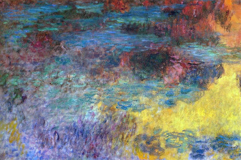 Claude Oscar Monet Water-Lily Pond, Evening (left panel) - Hand Painted Oil Painting