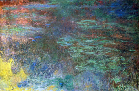 Claude Oscar Monet Water-Lily Pond, Evening (right panel) - Hand Painted Oil Painting