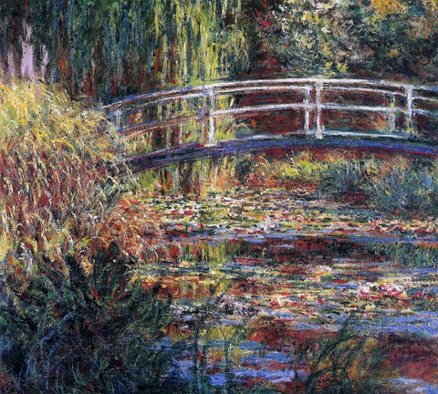Claude Oscar Monet Water-Lily Pond, Symphony in Rose - Hand Painted Oil Painting