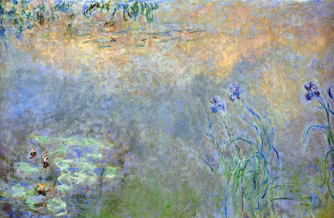 Claude Oscar Monet Water-Lily Pond with Irises - Hand Painted Oil Painting