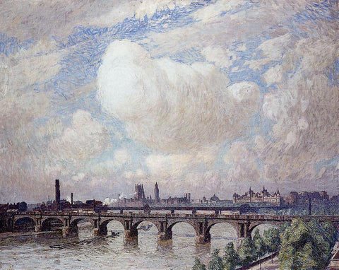 Emile Claus Waterloo Bridge in the Sun - Hand Painted Oil Painting