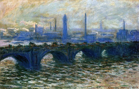 Claude Oscar Monet Waterloo Bridge, Misty Morning - Hand Painted Oil Painting
