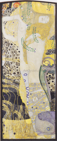 Gustav Klimt Watersnakes - Hand Painted Oil Painting