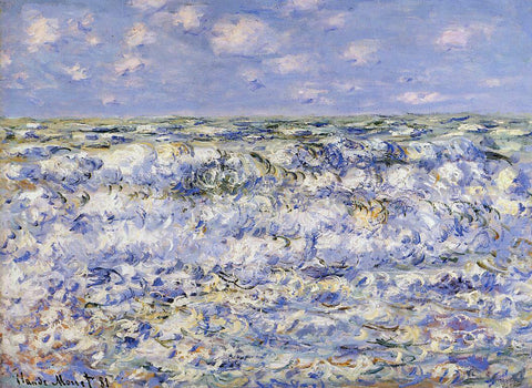 Claude Oscar Monet Waves Breaking - Hand Painted Oil Painting