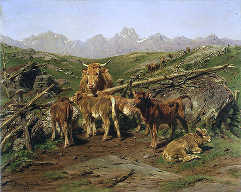 Rosa Bonheur Weaning the Calves - Hand Painted Oil Painting