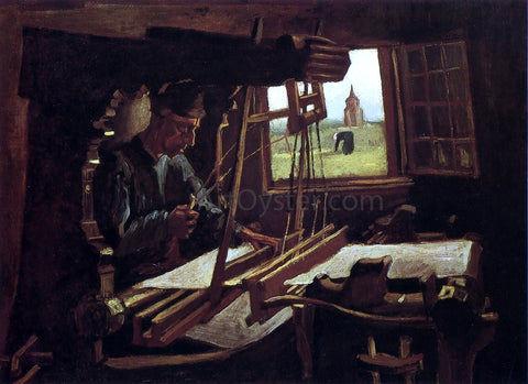 Vincent Van Gogh Weaver near an Open Window - Hand Painted Oil Painting